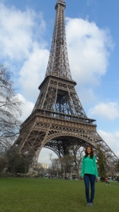 Me with the Eiffel Tower.  You can tell how big it is!