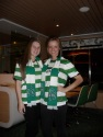 On the boat, all dressed in our Celtic gear
