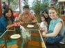 Katie having lunch with her ISA Cusco host family.
