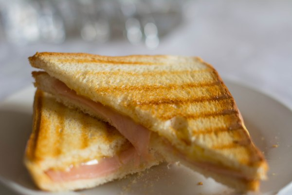 A crispy ham and cheese sandwich tends to be my breakfast at least once a week - Yum!