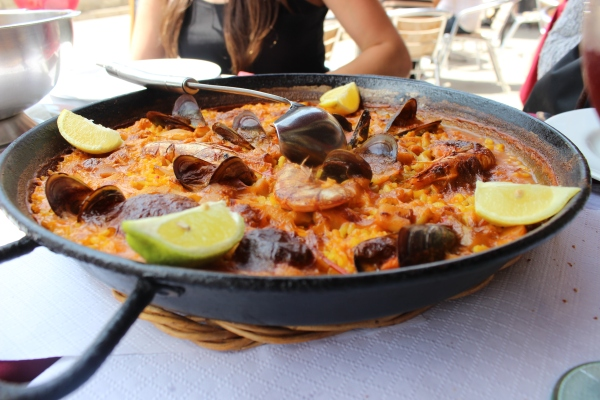 This is the seafood paella, seriously so good.