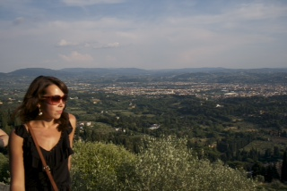 Enjoying the view from Fiesole