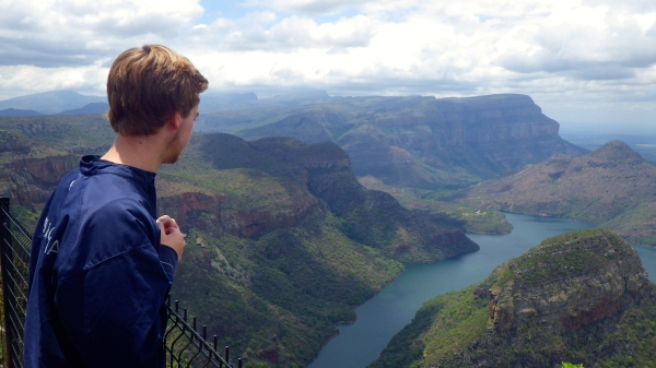 Contemplation on the Panorama Route. Studying abroad is about contemplating your dreams and reaching for them.