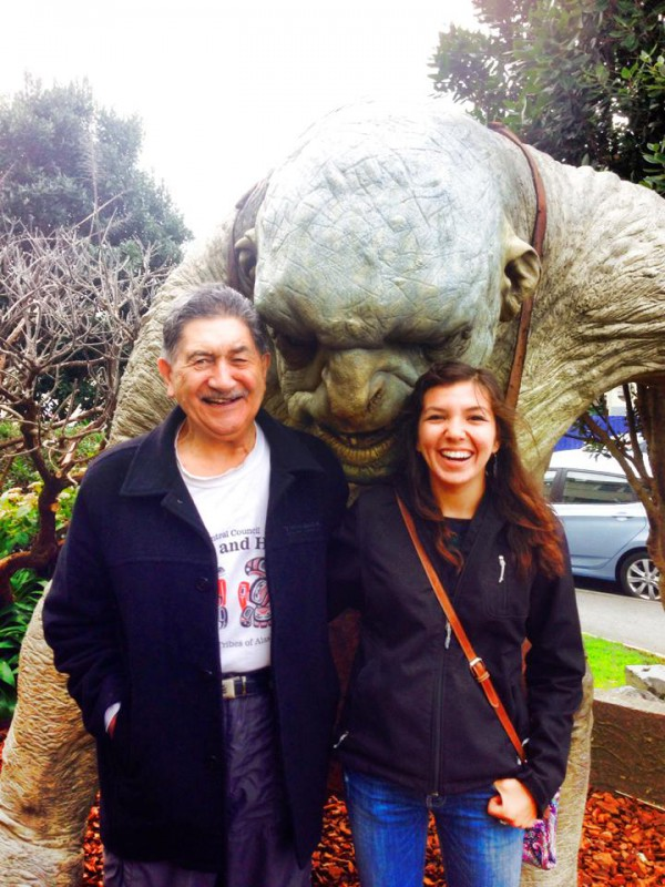 Me and Lewis Moeau (AKA Pops), the Maori cultural advisor to New Zealand's Prime Minister and a respected mentor and new friend.