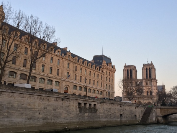 Beautiful views are all over Paris. Here's Notre Dame from a boat tour on the river!