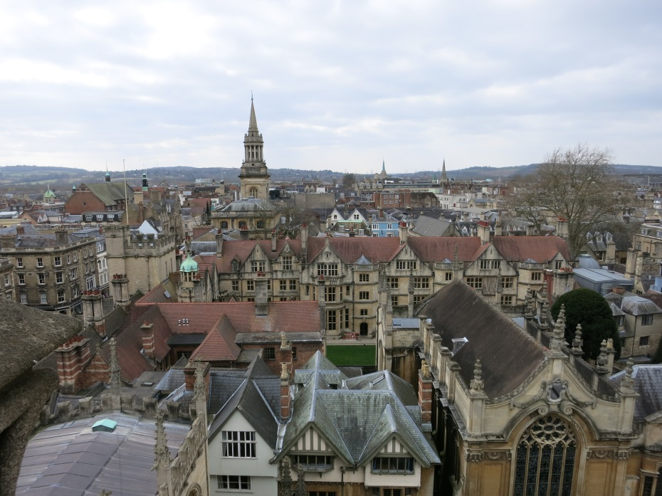 For less than a fiver, you can climb the church tower at the University Church of St. Mary the Virgin in Oxford and get spectacular views of the city.