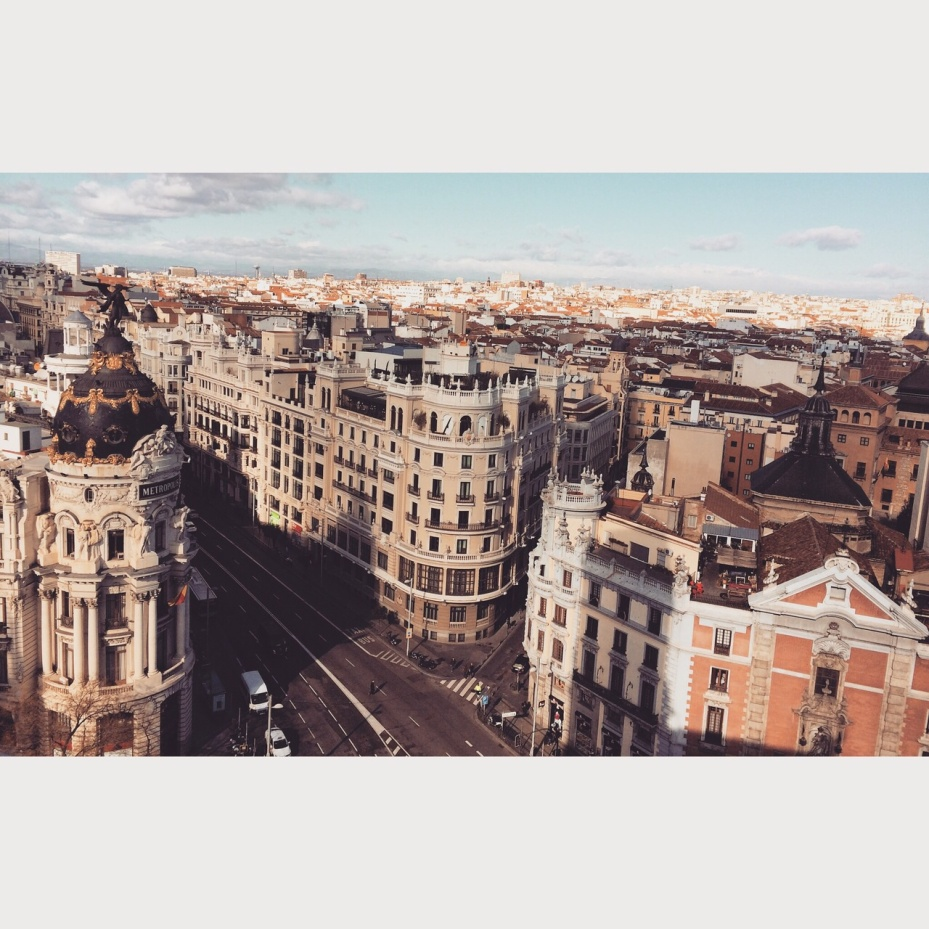 The Madrid Metropolis. I love the depth of the city here.
