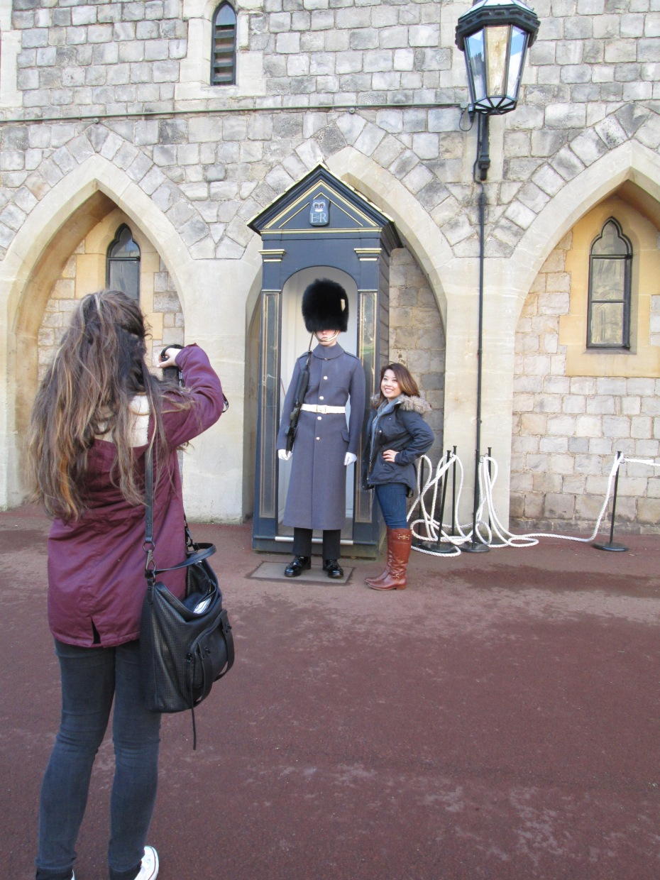 On the ISA excursion to Windsor, my flatmates and I were able to take pictures next to a guard!