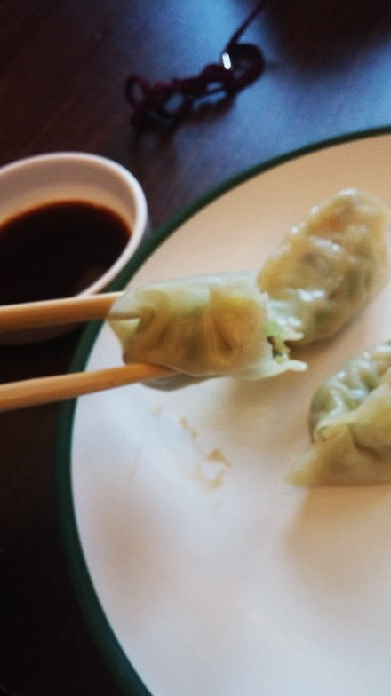 These are vegetarian dumplings I made during an ISA cultural activity.
