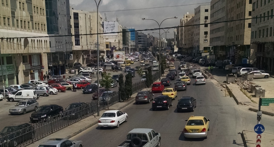 A typical afternoon on a main road near my apartment in Amman