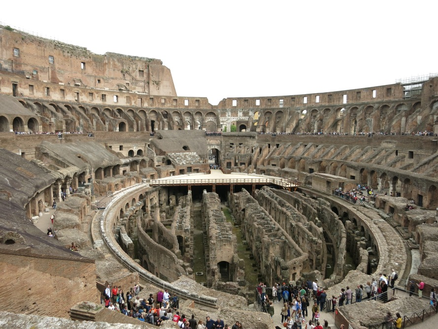 A look at the inside of the Colosseum from a weekend trip to Rome.