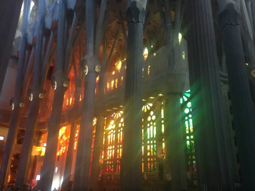 La Sagrada Familia was by far my favorite part of my Barcelona trip. I have never seen a building so magnificent and beautiful.