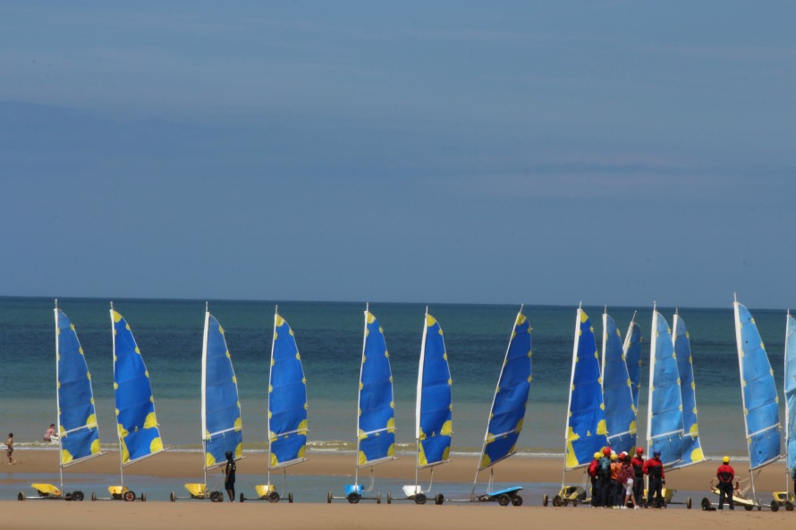 Just a week after the 71st anniversary of D-Day, we got to walk on Omaha beach
