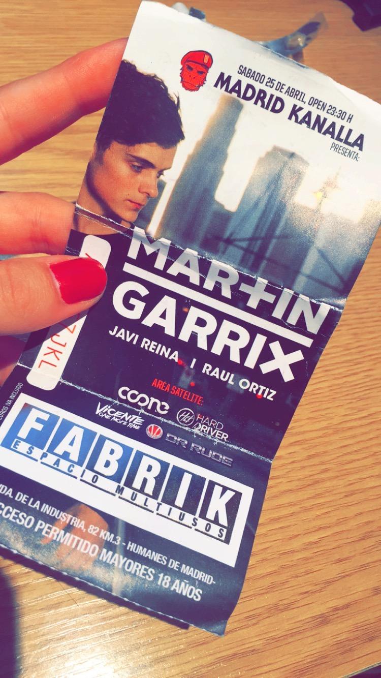 Martin Garrix at Fabrik ticket stub
