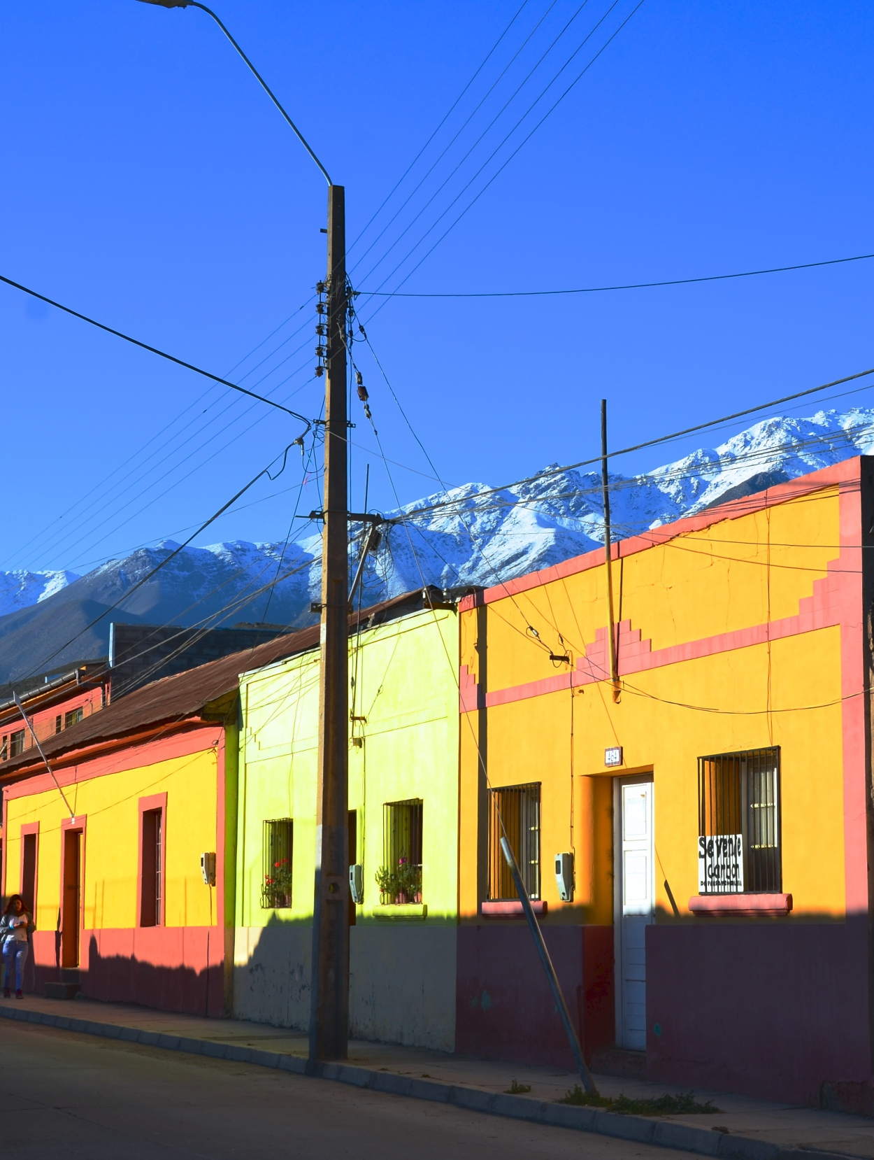 Colorful houses in Vicuña