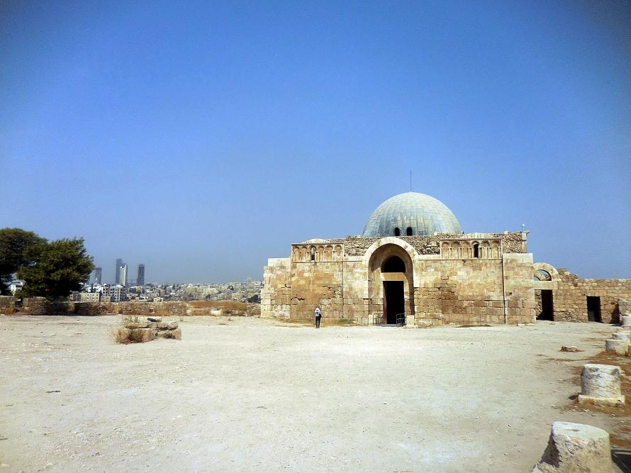 The blue-domed Umayyad Palace