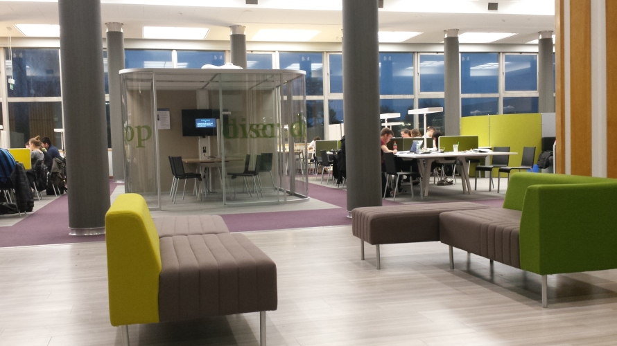 The library at the University of Reading is the perfect study place for hardworking students