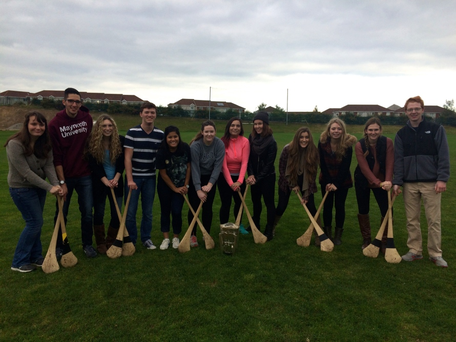 Our impromptu Hurling team
