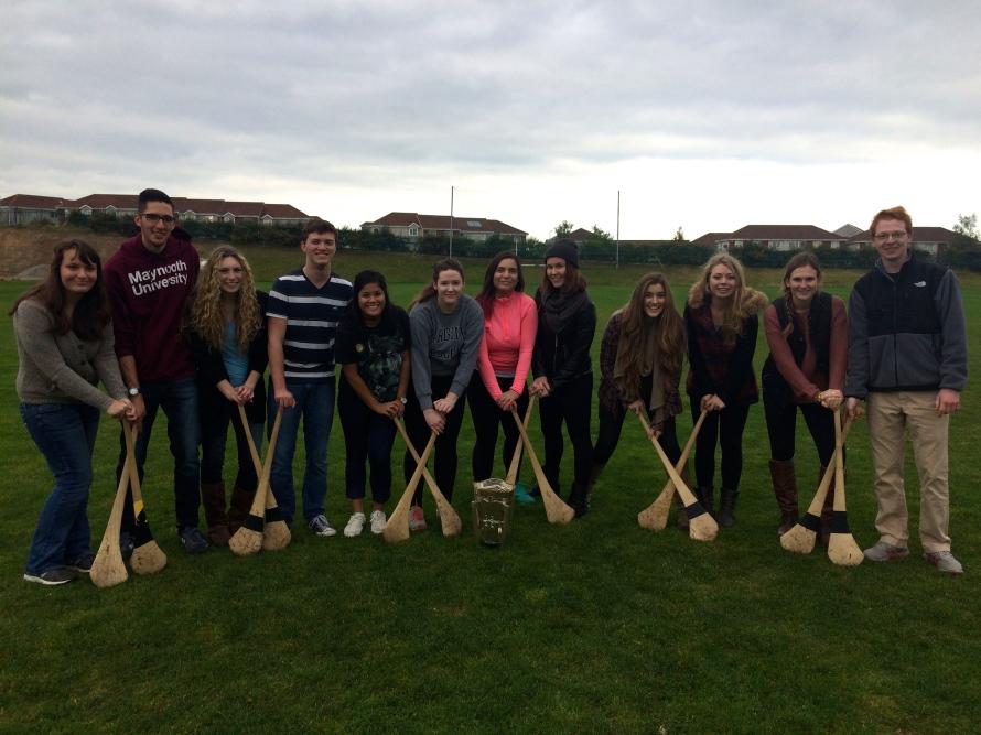 Our impromptu Hurling team