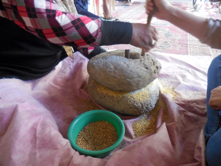 A traditional seed-grinder.