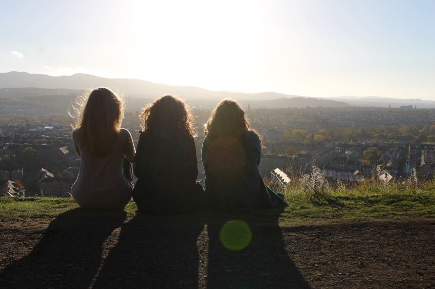 Girls Overlooking, Edinburgh, Scotland, UK, Conwell-Photo 3