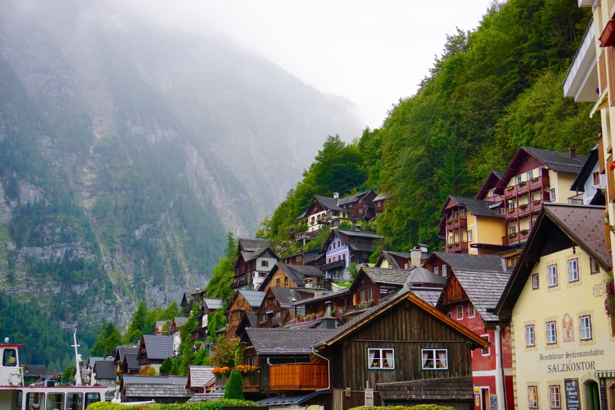 Loved the charming little houses in the village of Hallstatt.