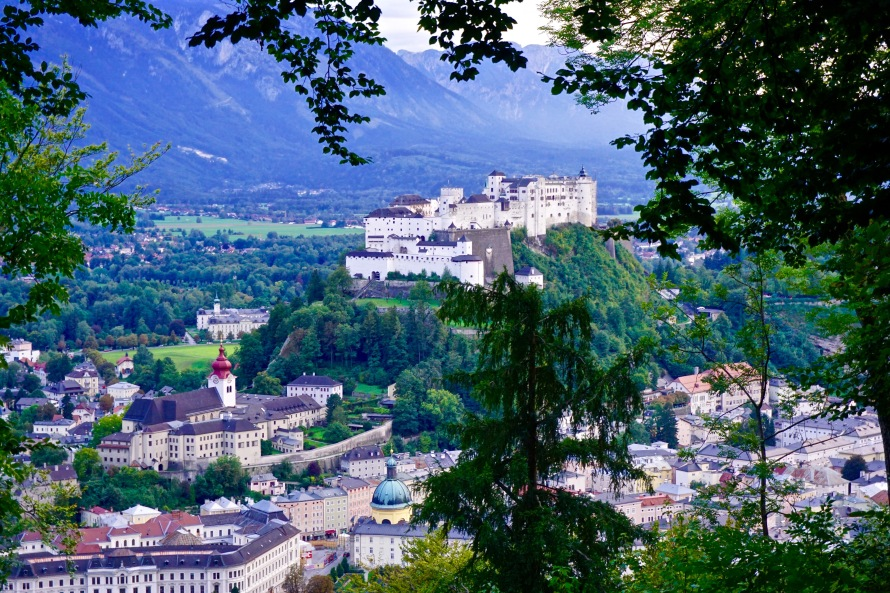 Great view of the Hohensalzburg Castle from our afternoon hike.