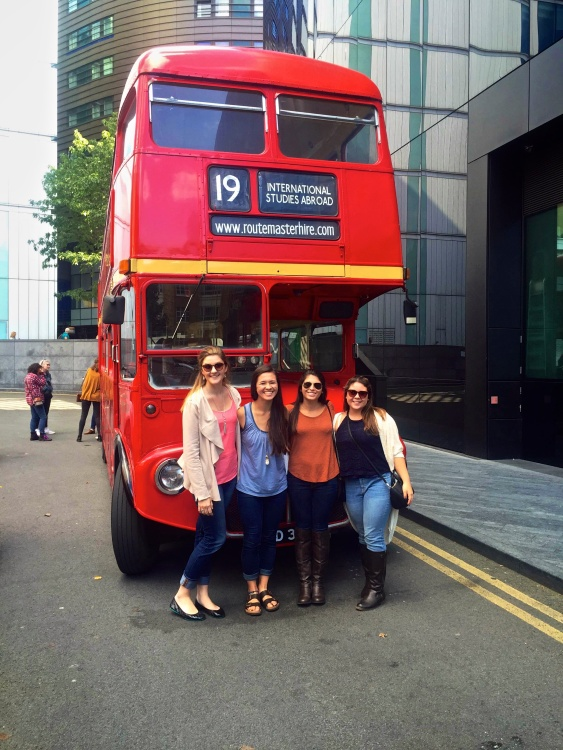 These are my three fabulous roommates and I after our own Double Decker Bus Tour of London.