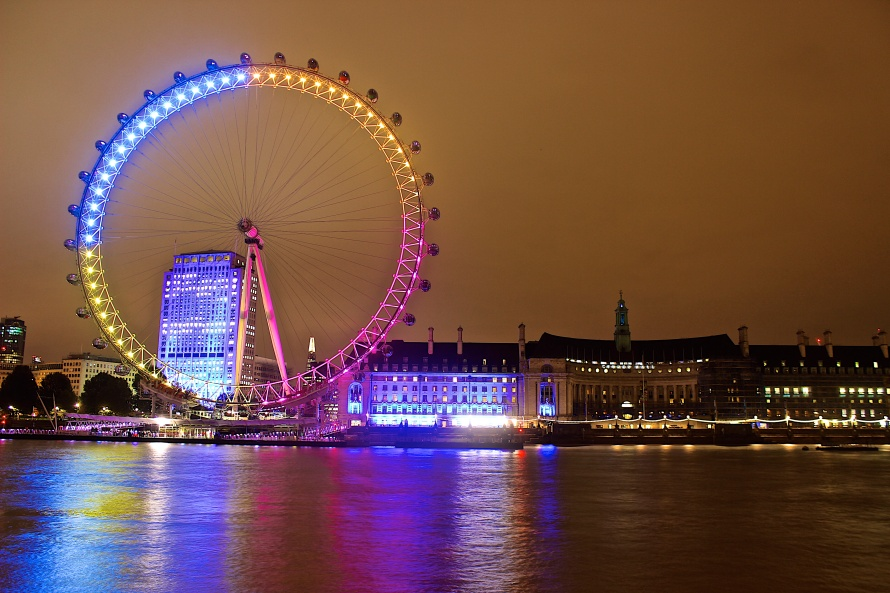Your view of the London Eye when you have dinner on the deck of Tattershall Castle.
