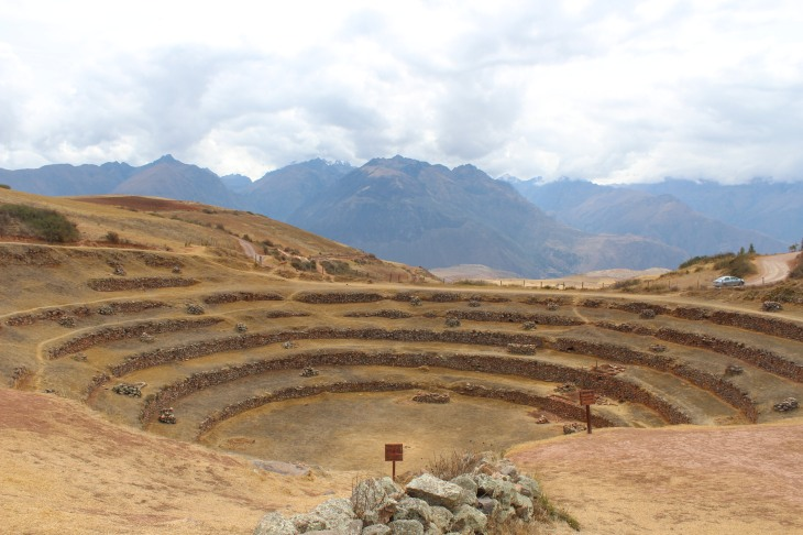 One of the terraced circles