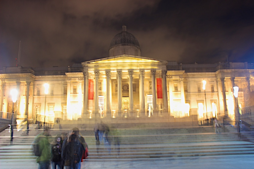 The National Gallery in Trafalgar Square in central London.