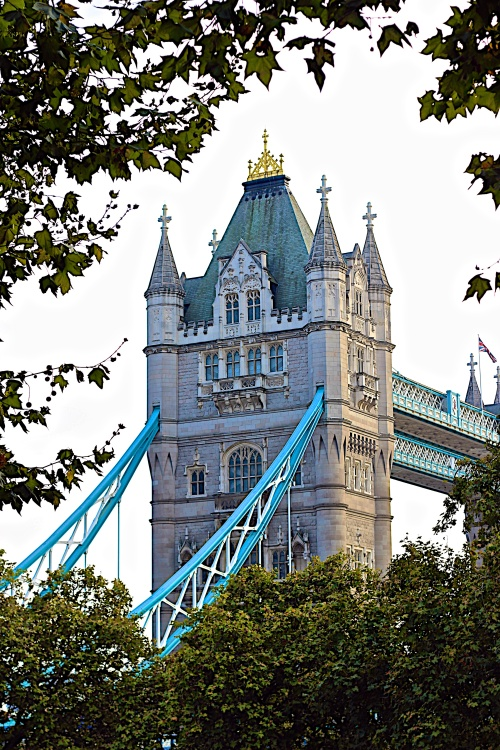I'm only showing you a small portion of Tower Bridge because you deserve to see the full majesty and beauty of this architecture when you visit London.