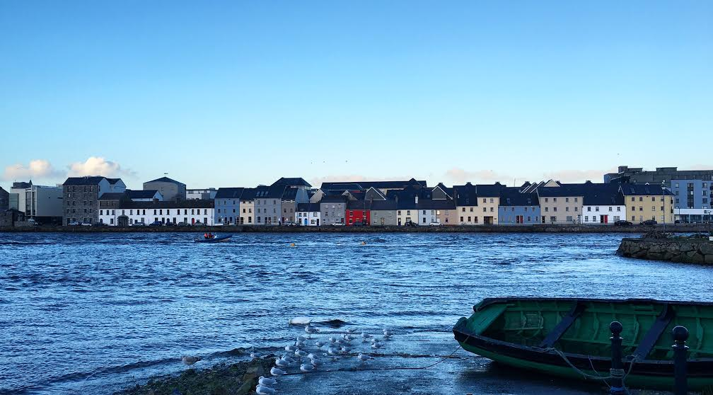 Galway is a vibrant city filled with brightly colored shops and houses.