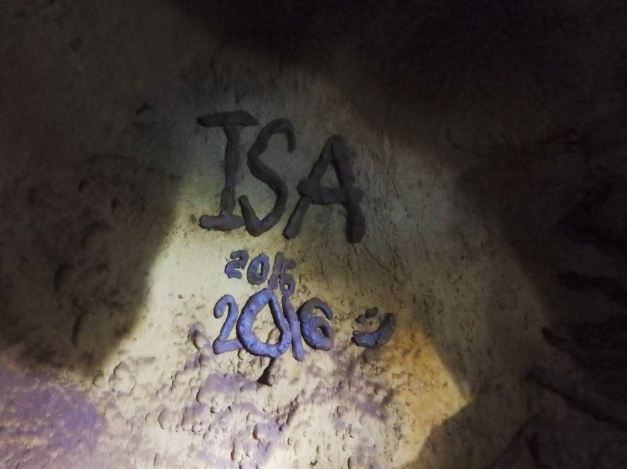 In the midst of our adventure, we discovered and added to some artwork in the caves made by last year's ISA students.
