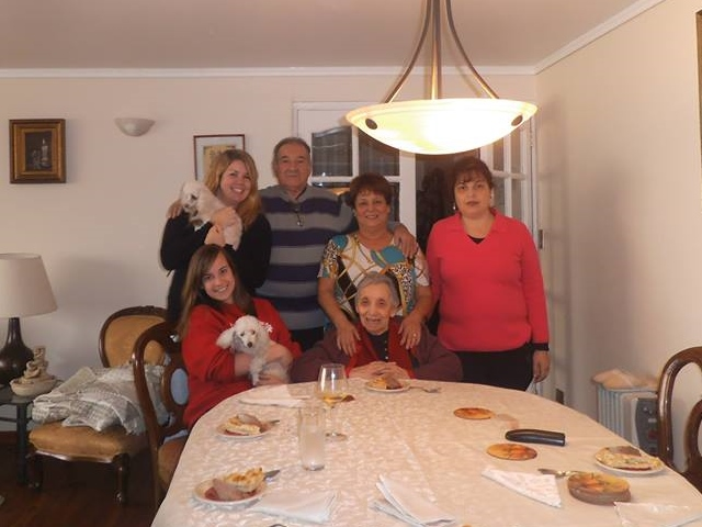 My Chilean homestay family!