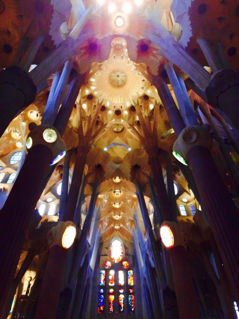 Inside of La Sagrada Familia