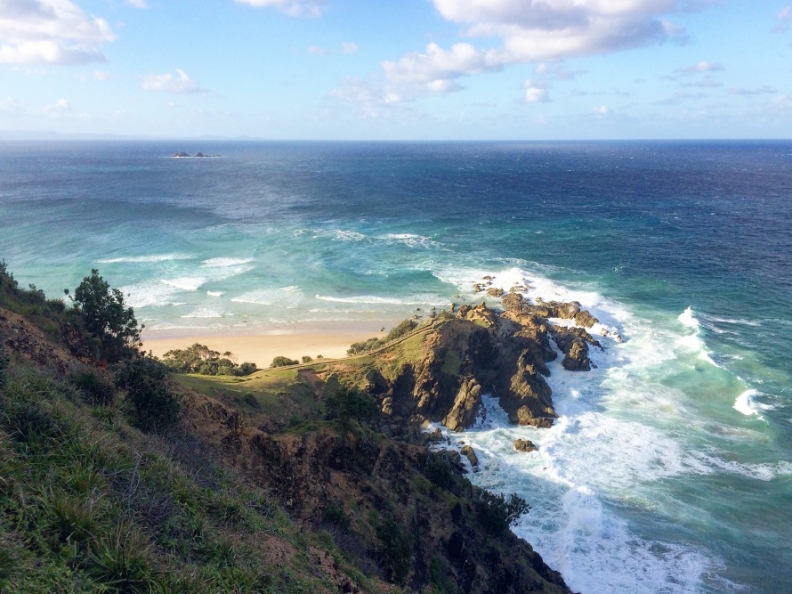 ere's one of the many incredible views from the Byron Bay Lighthouse