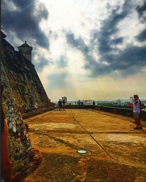 Touring the Castillo de San Felipe.
