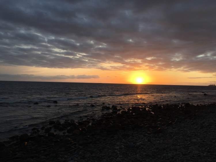 Sunset on the beach in Masopalmas.