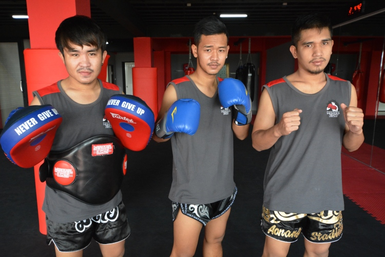 Kang, Ball, and Tay (from left to right)