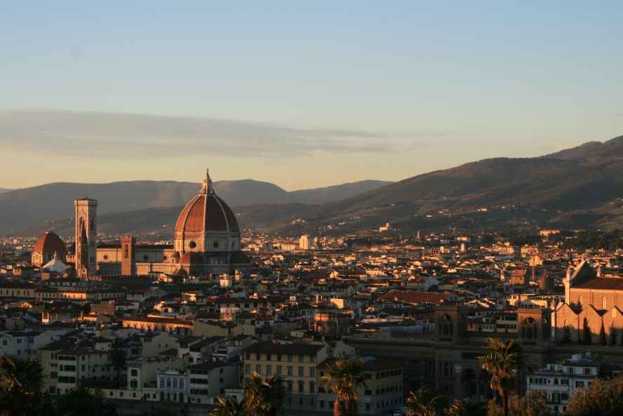The Piazza Michelangelo. Who wouldn't want this view?
