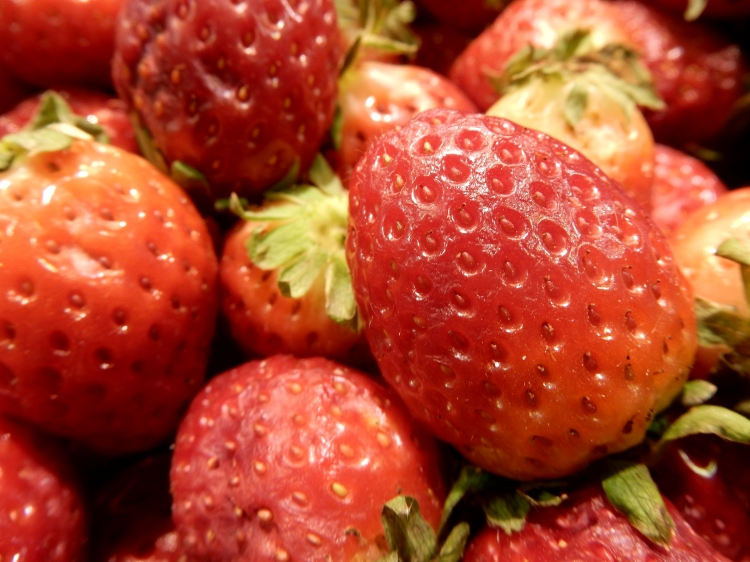 Triana Market is full of local produce, like these delicious strawberries.