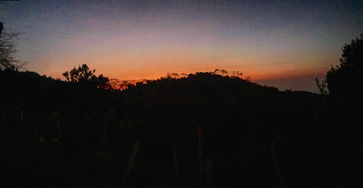 A beautiful sunset at La Casa Elmento.