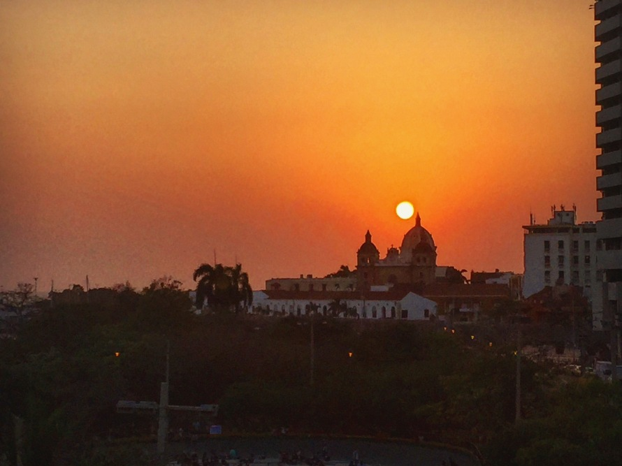 A Cartagena sunset.