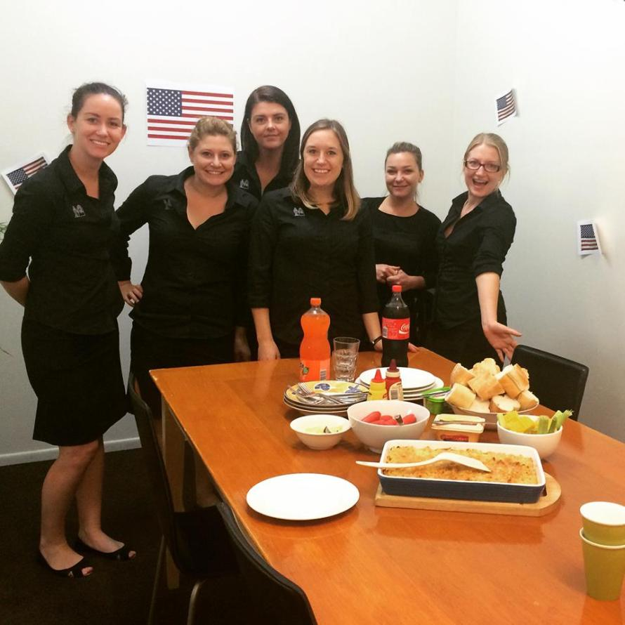 4th of July celebration in Australia with my internship co-workers