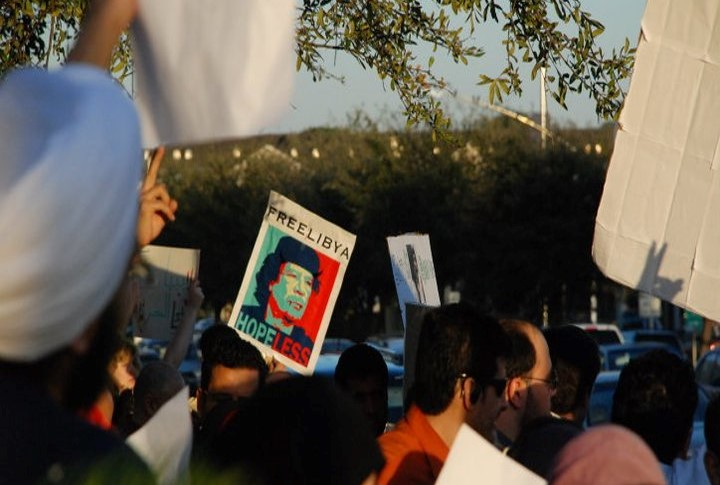 Arab Spring Protestors, Houston, Texas, USA - Sloan Photo 1