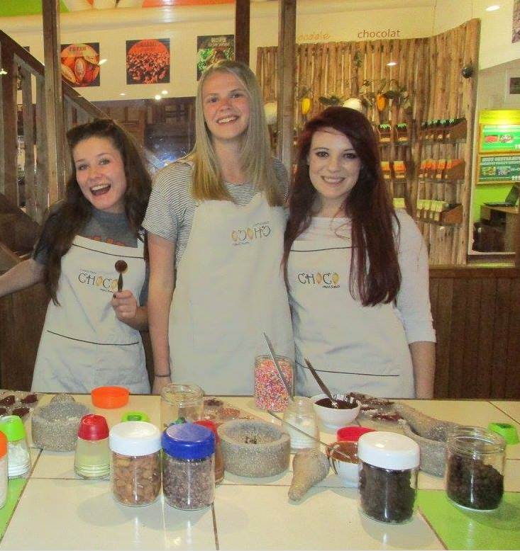 Making our own chocolate with a professional chocolatier!