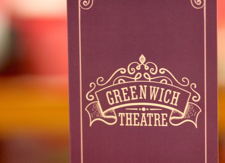 The free program from the show we saw at the Greenwich Theatre.