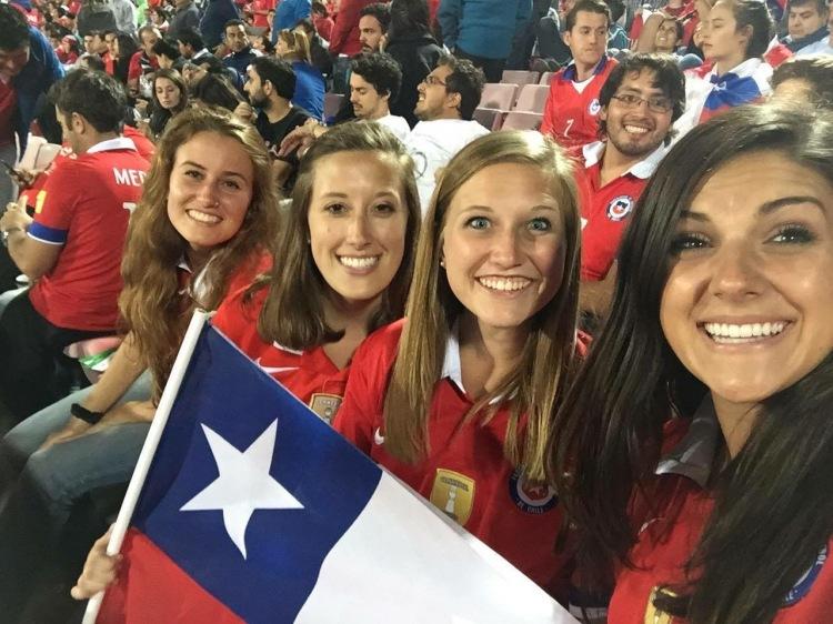 """Chile's best """"gringa"""" fans!"""