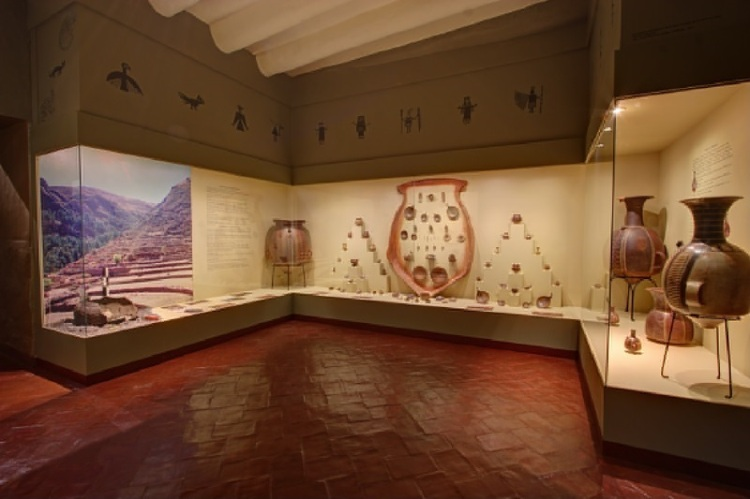 Some of the ceramics on display that represent the history of the Cusco Region. Photo via The Only Peru Guide
